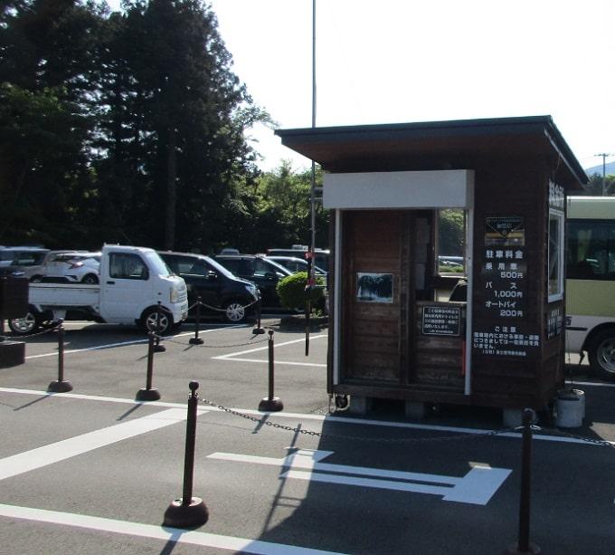 白糸の滝の駐車場